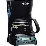 Mr. Coffee 4-Cup Programmable Coffee Maker, Black, DRX5-NP
