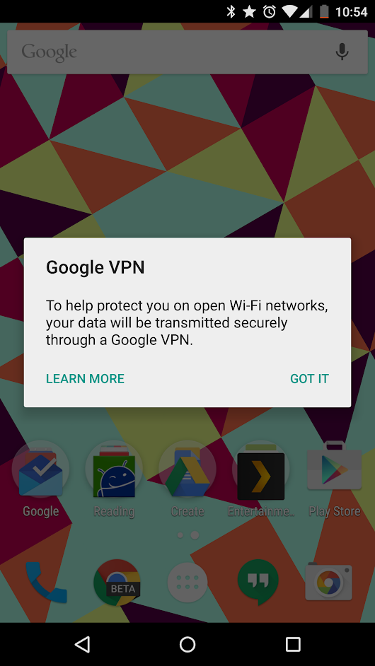 Google could be working on a built-in VPN service for use on open WiFi networks