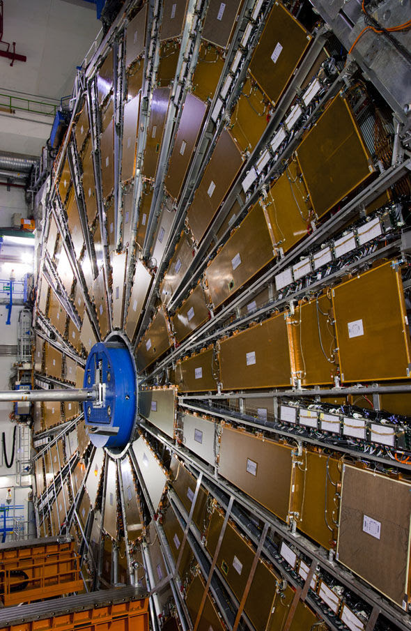 Part of the enormous collider