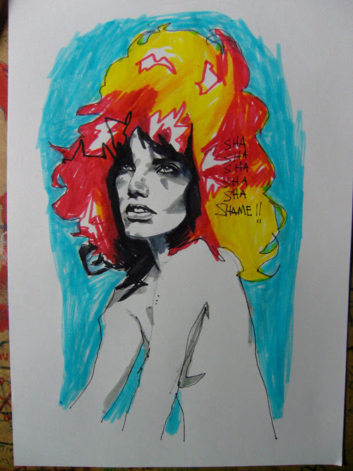 FLAMING RED HEAD