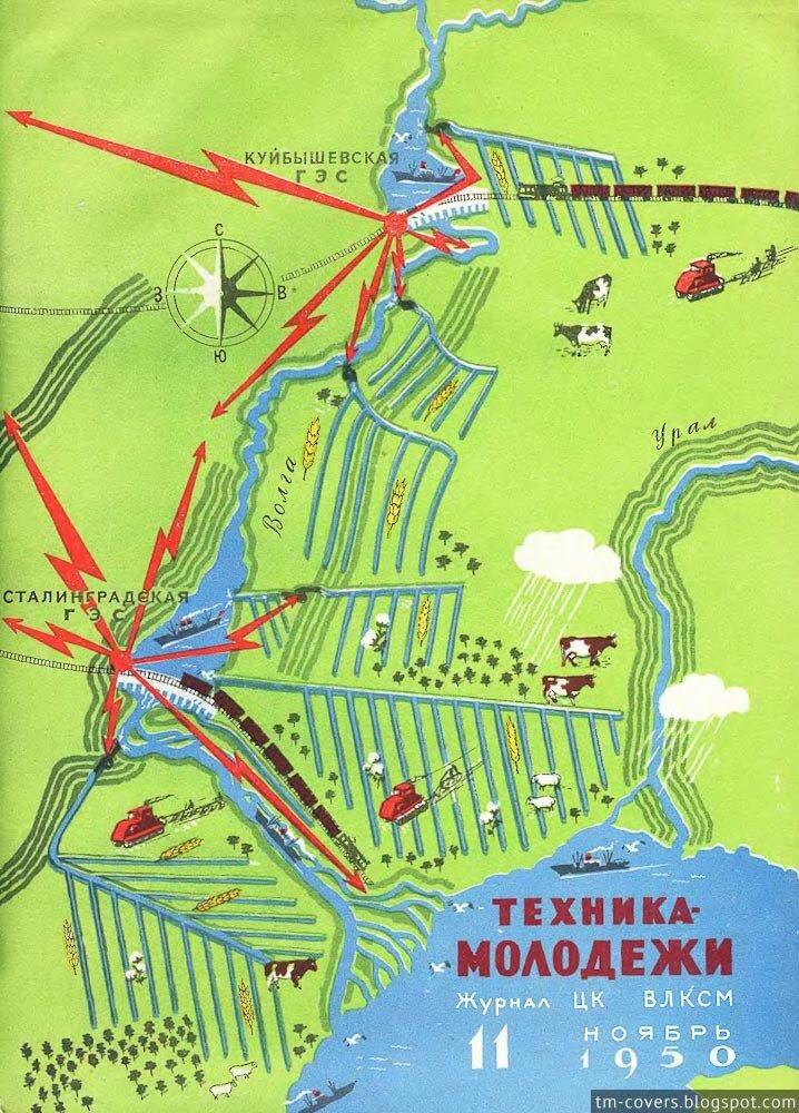 Техника — молодёжи, обложка, 1950 год №11