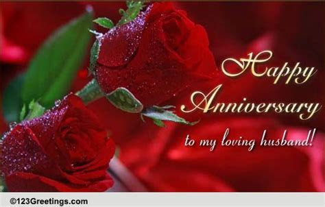 Happy Anniversary Wishes For Loving Husband With Rose