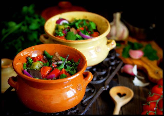 Chanahi (georgischer Gemüse-Lamm-Eintopf)