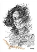 """Bruno Steinbach. """"MARIA BONITA SEBASTIANA, opus XI"""". Infogravura/papel couchê, crayon, 42 x 29,7 cm, junho de 2010, Paraíba, Brasil."""