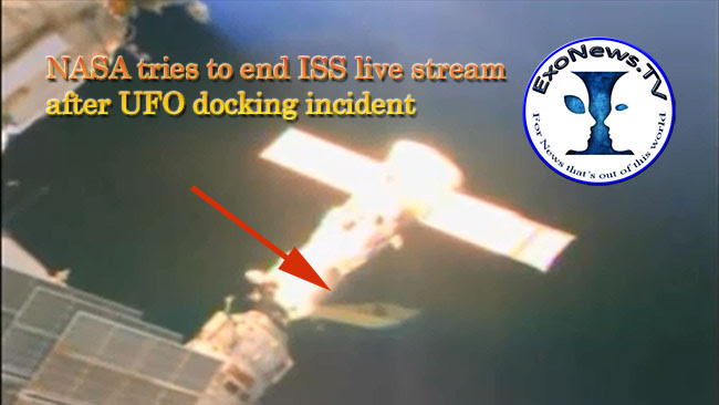 UFO docking incident at ISS