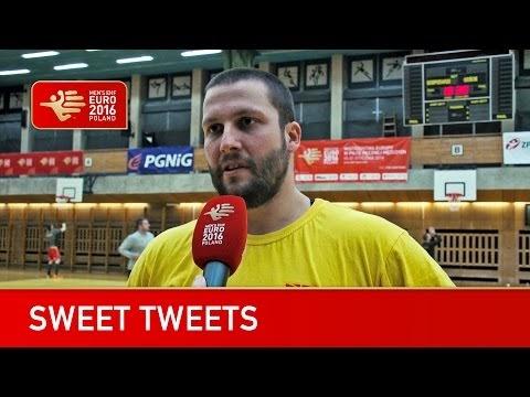 EURO 2016 TV - Interview mit makedonische Handballer