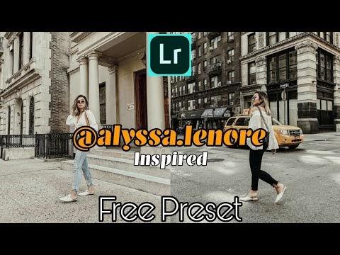 How to Edit Like @alyssa lenore l Free Alyssa Lenore Inspired Preset