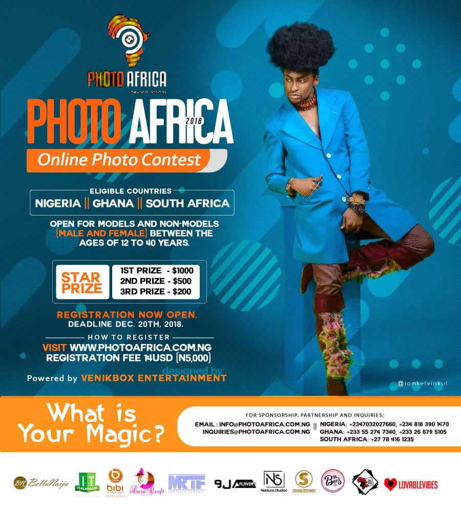 Participate In Photo Africa 2018 Online Photo Contest And Win Over 1,000 Dollars And More