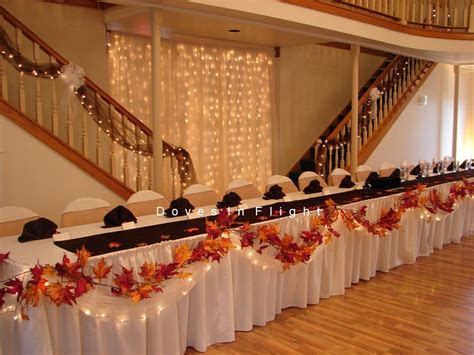 autumn wedding table decorations   need fall head table