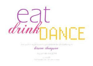 Party Invitations   Eat Drink Dance by Mixbook