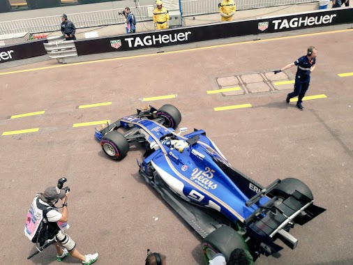 Guess what!? FP2 is on and Marcus is back in the car and out on the track.  #SauberF1Team #F1 #MonacoGP...