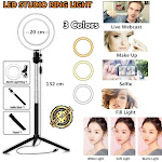 Willstar New Fashion LED Studio Ring Light Camera Phone Video Dimmable Lamp Light + Tripod,For Selfie/Live Show/Fill Light! It is for you!! 1 Set