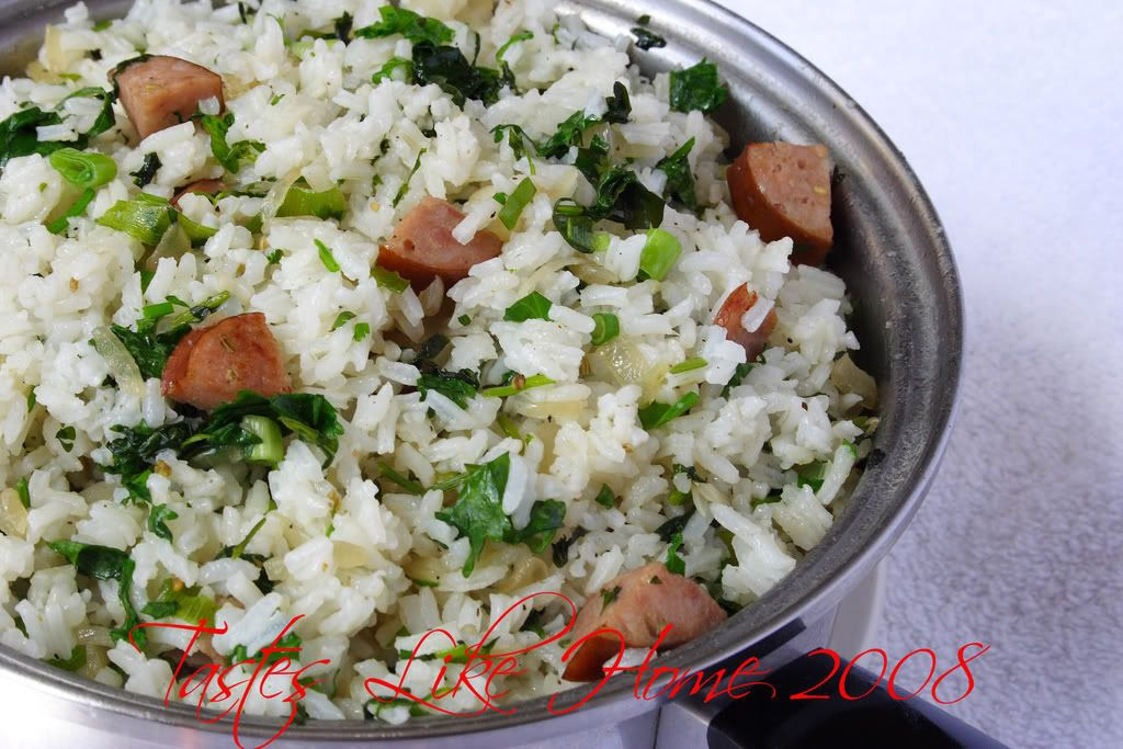 Rice Pilaf with Sausages & Herbs