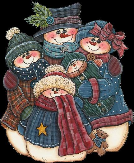 famille bonhommes de neige