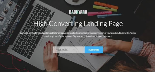 Backyard – High Converting Free Bootstrap Landing Page Template | Bootstrap Templates Download
