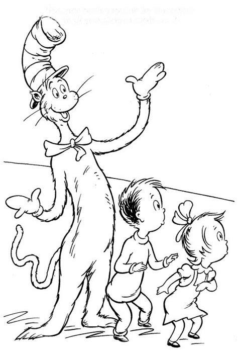 cat   hat coloring pages  kids dr seuss coloring