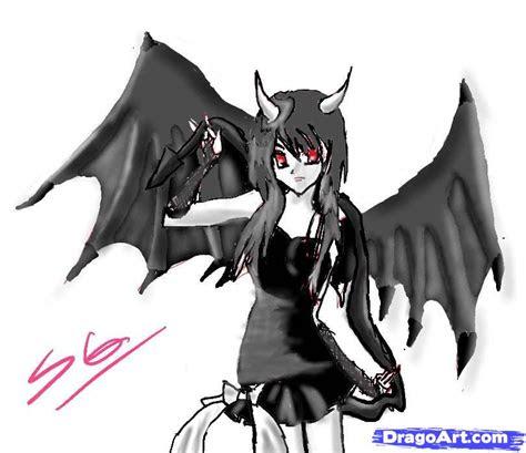 draw  anime demon girl step  step anime
