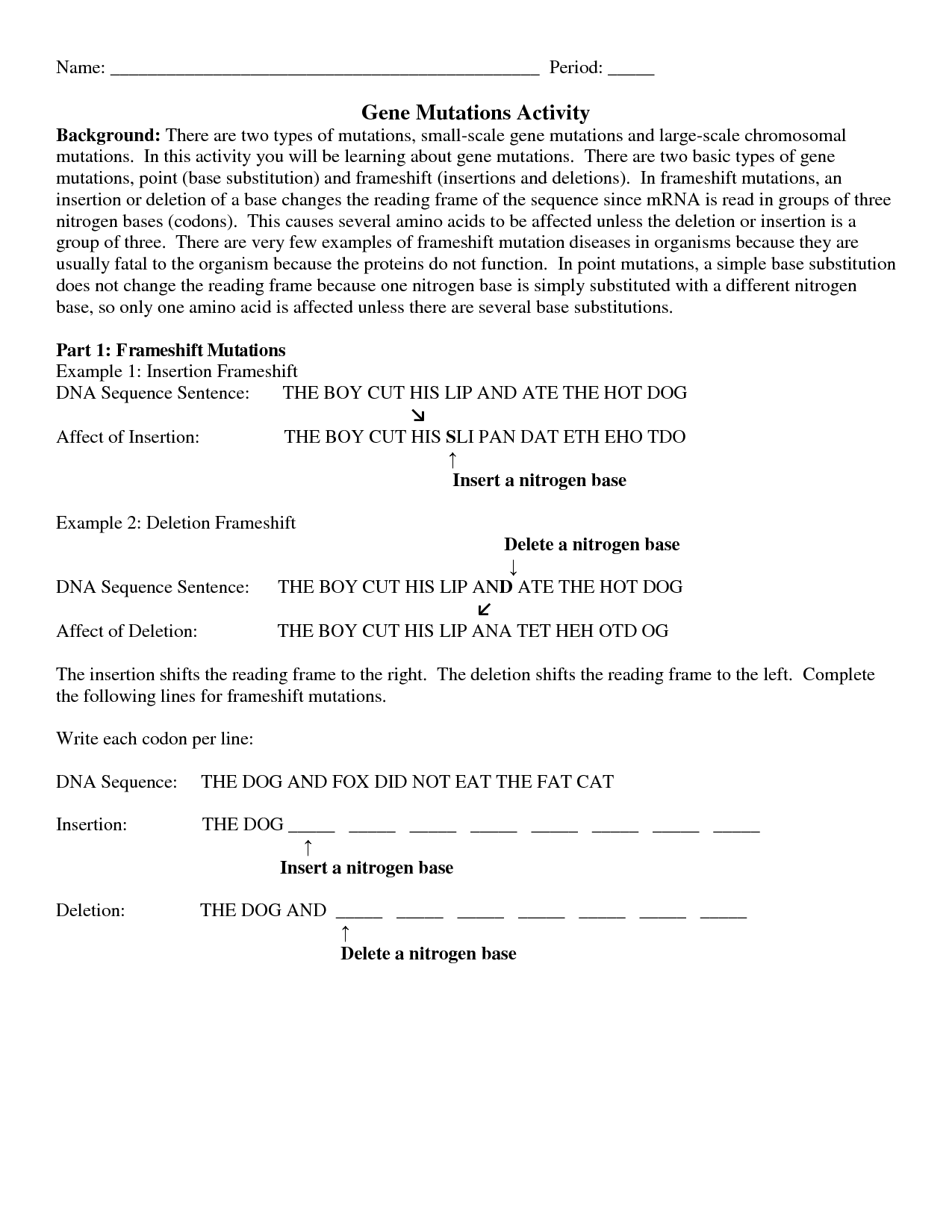 13 Best Images of Chromosomes And Genes Worksheet  DNA and Replication Worksheet Answers, Gene