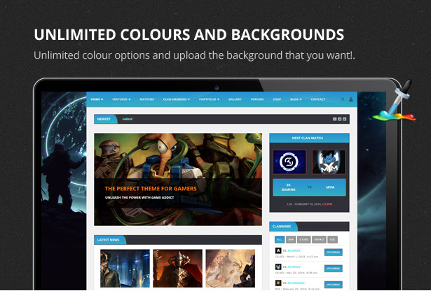 premium game website theme