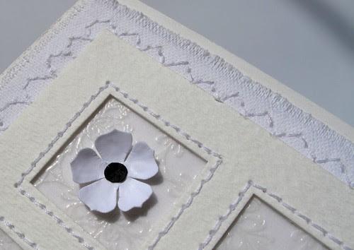 white & black flower