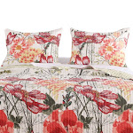 "Barefoot Bungalow Meadow Floral Print Reversible Pillow Sham - King 20x36"" Multicolor - Standard Multi"