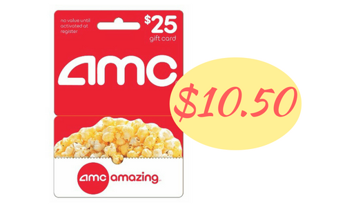 25 Amc Gift Card For 10 50 Southern Savers