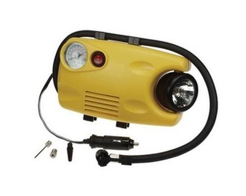Compresseur gonfleur avec manometre et lampe 12v - Gonfleur allume cigare ...