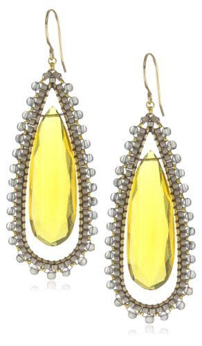 New Year 2013 deals on Miguel Ases products Miguel Ases Citrine Quartz and Labradorite Tear Drop Earrings