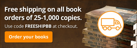 Free shipping on all book orders of 25-1,000 copies. Use code FREESHIPBB at checkout.