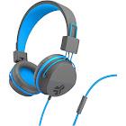 JLab Audio JBuddies Studio On-Ear Headphones with Mic - Blue/Graphite