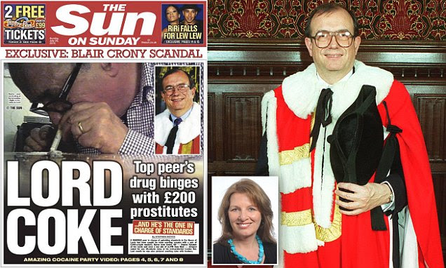 Lord Sewel resigns after 'being filmed snorting cocaine off prostitute's breasts'