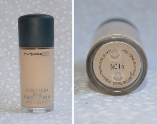 Mac Studiox Fix Fluid SPF 15 Bottle