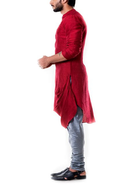 anju agarwal maroon cowl kurta set shop kurtas