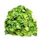 Savor Brands Chopped Spinach Block, 3 Pound Poly - 12 per case.