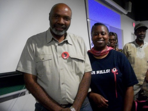 Abayomi Azikiwe, editor of the Pan-African News Wire, and former Congresswoman Cynthia McKinney after the Detroit mass meeting opposing the US-NATO war against Libya. The event was held on August 27, 2011. (Photo: Andrea Egypt) by Pan-African News Wire File Photos