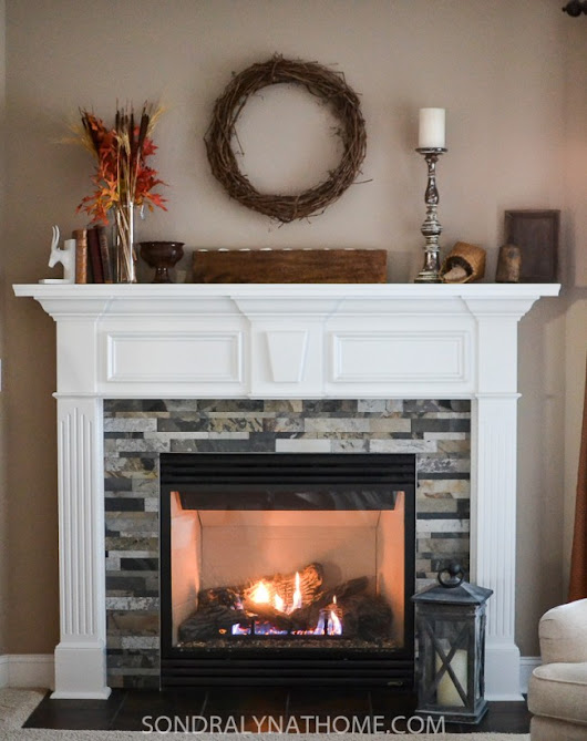 Easy Peel and Stick Stone Fireplace Surround - Sondra Lyn at Home