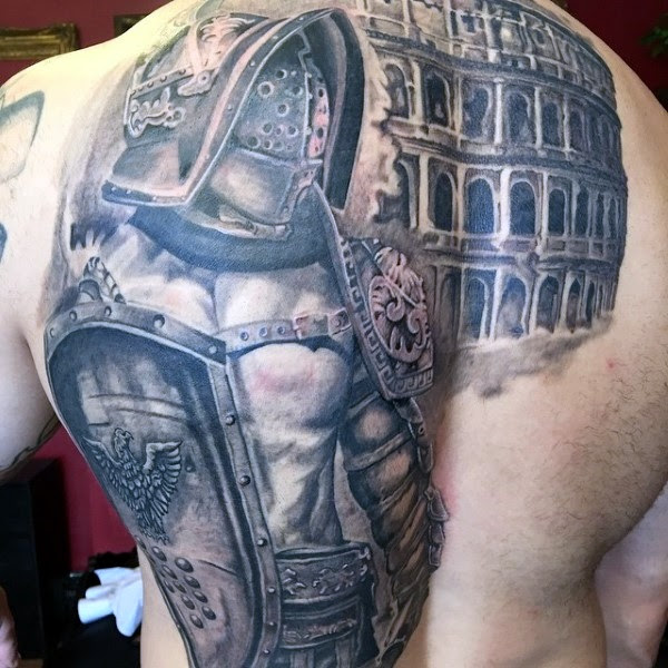 Valiant Gladiator Tattoo Designs (13)
