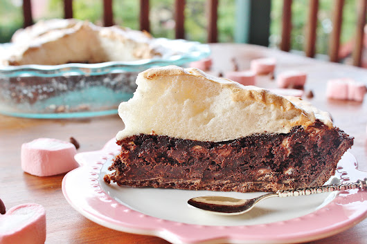 Chocolate brownie pie and cause for celebration
