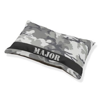 Camouflaged Pattern Personalized Small Dog Bed