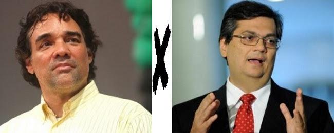 Candidatos ao Governo do Maranhão Edinho Lobão e Flávio Dino