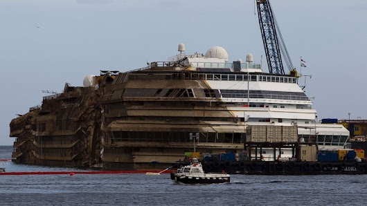 Costa Concordia Pulled Upright in Salvage Effort - ABC News