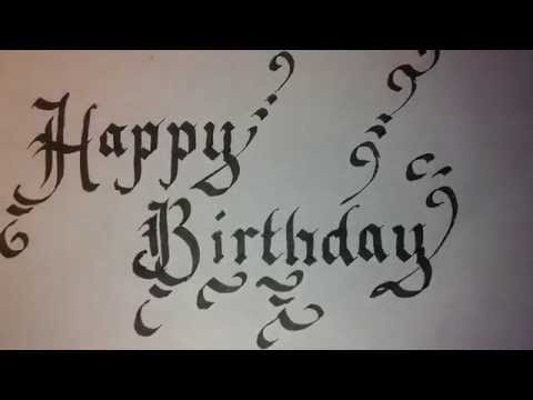 Calligraphy For Beginners Happy Birthday