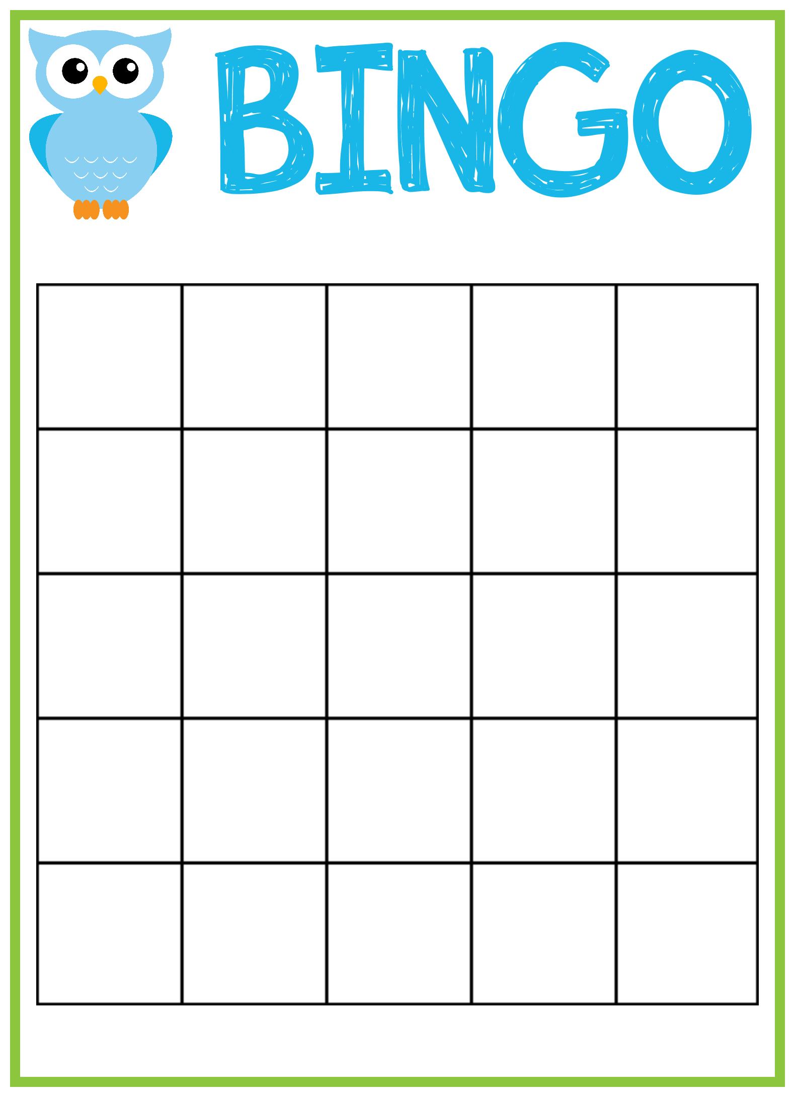 Homemade bingo cards
