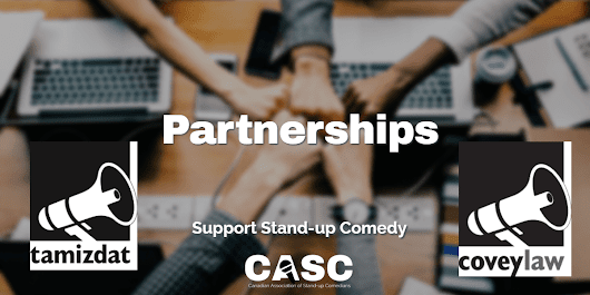 CASC New Partnership with Tamizdat and CoveyLaw - CASC - Canadian Association of Stand-up Comedians