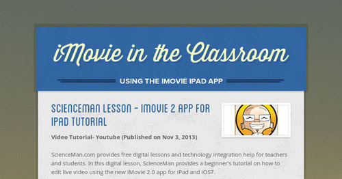 iMovie in the Classroom