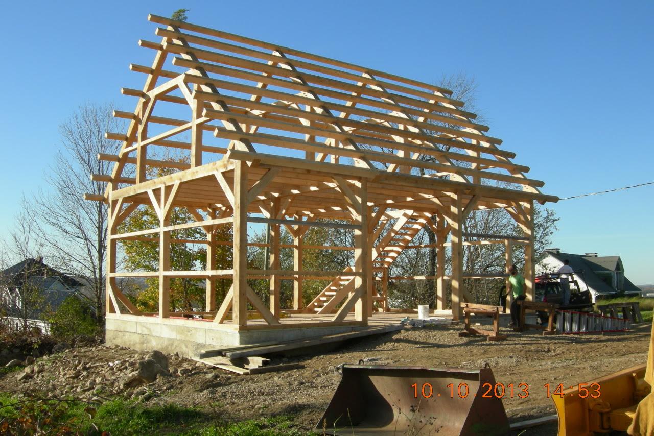 26 X 36 Timber Frame Barn Black Dog Timberworks