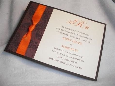 Chocolate Brown and Burnt Orange 5 x 7 by InvitationsbyJill