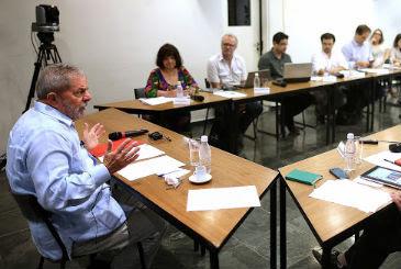 Ex-presidente reuniu blogueiros nesta terça-feira e comentou sobre o rompimento de Eduardo Campos com o PT (Ricardo Stuckert/Instituto Lula)