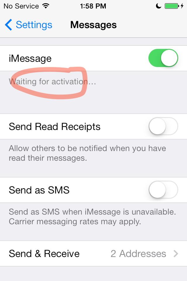 messages - An email as my name on other people's phone, iOS7 update - Ask Different