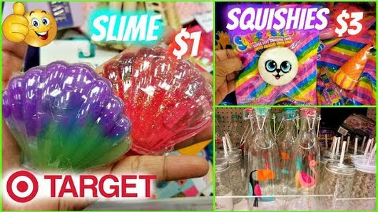 TARGET BULLSEYES PLAYGROUND SHOP WITH ME SLIME LIP BALM SQUISHIES APRIL 2018